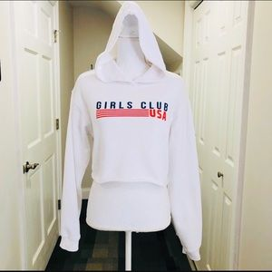 Forever 21 Girls Club Cropped Hoodie Sz Small